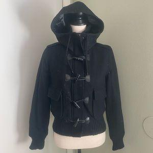 Levi's Womens Hooded Wool Blend Jacket